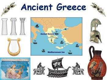 Ancient Greece Flashcards - task cards, study guide, state