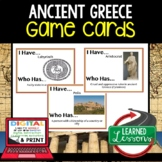 Ancient Greece Game Cards, World History Test Prep