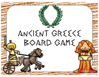 Ancient Greece Game (File Folder Board Game)