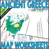 Ancient Greece Map Worksheets