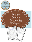 Ancient Greece Geography Internet Webquest
