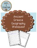 Ancient Greece Geography Internet Webquest