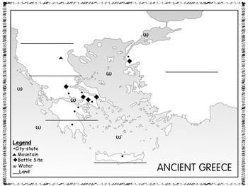 Ancient Greece - Geography:  Map Quest and Scavenger Hunt Activity