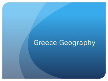 Ancient Greece Geography Notes