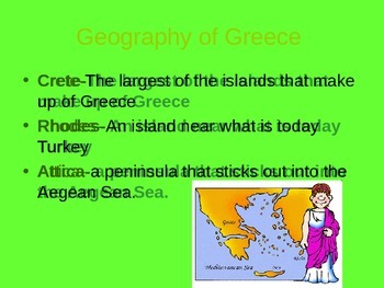 Ancient Greece Geography PPT (Editable)