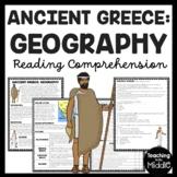 Ancient Greece Geography Reading Comprehension Worksheet Greek