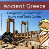 Ancient Greece Geography Scavenger Hunt  and Task Cards - Differentiated