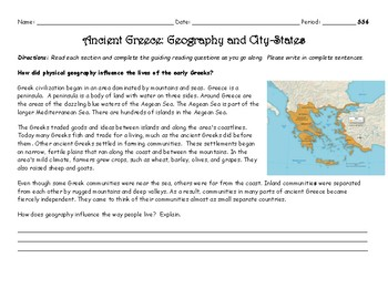 Ancient Greece Geography and City-States