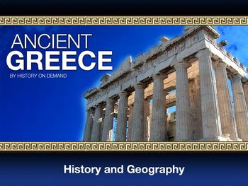Ancient Greece PowerPoint with Guided Outline: Geography and History