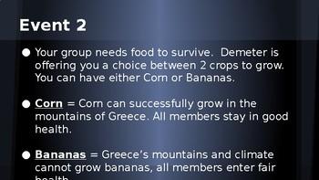 Ancient Greece Gods Simulation