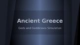 Ancient Greece Gods Simulation Activity Game