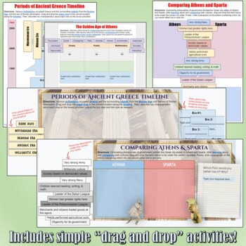 Ancient Greece Google Drive Interactive Notebook