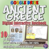 Ancient Greece Google Drive Interactive Notebook for Dista