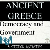 Ancient Greece Government and Democracy Center Activities