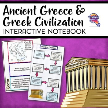 Ancient Greece & Greek Civilization Interactive Notebook Unit 6th Grade INB