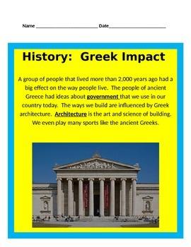 Ancient Greece:  Greek Impact