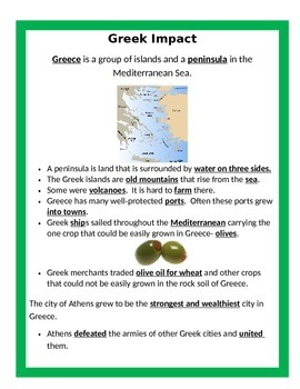 Ancient Greece:  Greek Impact