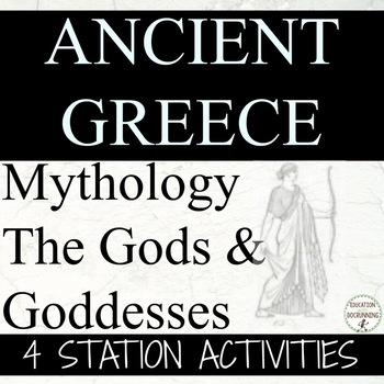 Ancient Greece Gods and Goddesses Station Activities for A