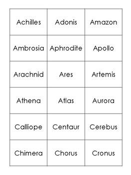 Ancient Greece & Greek Mythology Vocabulary Word Sort BUNDLE