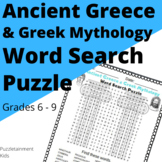 Ancient Greece & Greek Mythology Word Search Puzzle (Middle School Grades)