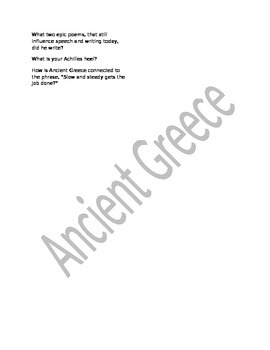 Ancient Greece Guided Reading