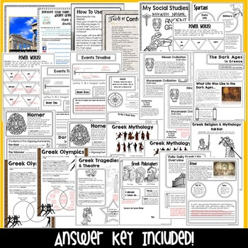 Ancient Greece Interactive Notebook | Google Classroom Distance Learning