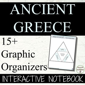 Ancient Greece Interactive Notebook Graphic Organizers for