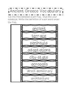 Ancient Greece Interactive Notebook Set