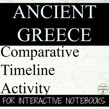 Ancient Greece Interactive Notebook Timeline Activity