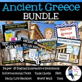 Ancient Greece Interactive Notebook, Skit, Daily Life Foldable and Task Cards