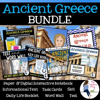 Ancient Greece Interactive Notebook and Task Cards Bundle