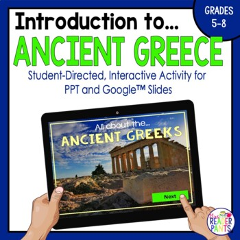 Ancient Greece Interactive Presentation (Google Slides and PPT)