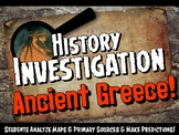 Ancient Greece Investigation History Lesson Stations or Pr