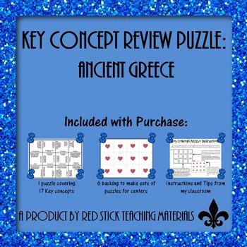 Ancient Greece Key Concepts Puzzle