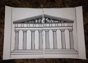 Ancient Greece Lap-book fold-able the Parthenon and Acropolis