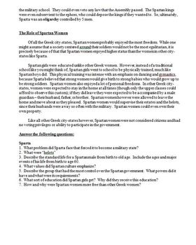 Ancient Greece Lesson Plan - Comparing Athens and Sparta Debate Activity