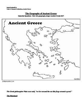 Ancient Greece Map Outline.Ancient Greece Map By Mrsalearno S Teachers Pay Teachers