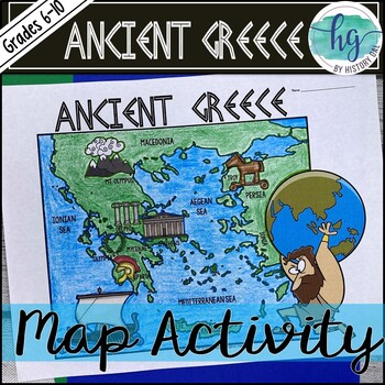 Ancient Greece Map Activity By History Gal Teachers Pay Teachers