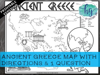 Ancient Greece Map Activity Ancient Greece Map Activity by History Gal | Teachers Pay Teachers