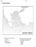 Ancient Greece Map Exercise