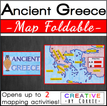 Ancient Greece Map Foldable