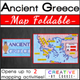 Ancient Greece Map Foldable for Interactive Notebooks