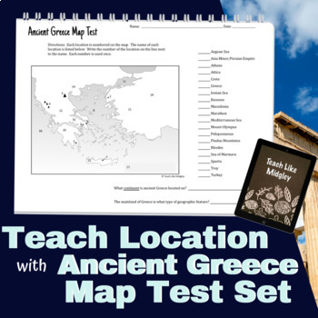 Map Test Set for Ancient Greece