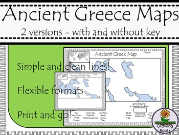 image relating to Printable Map of Ancient Greece identify Historic Greece Map Worksheets Coaching Supplies TpT