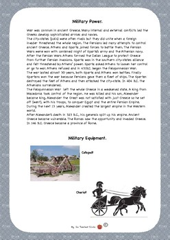 Ancient Greece-Military Power worksheet