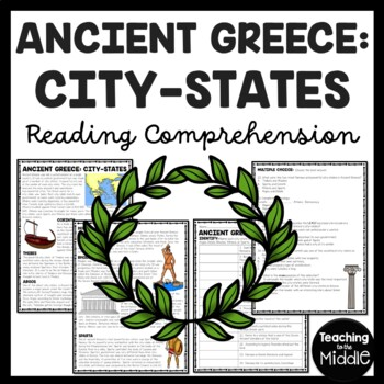 Ancient Greece: City-States Reading Comprehension Worksheet; Greek