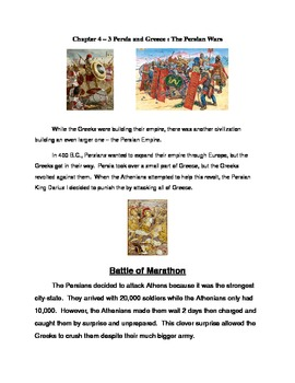Ancient Greece Modified Unit Section 3 Greece and Persia