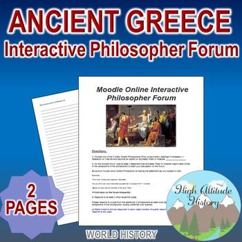 Ancient Greece Moodle Online Interactive Philosopher Forum Writing