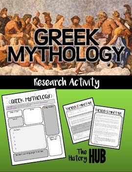 Greek Mythology (Ancient Greece Lesson Plan)