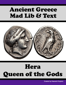 Ancient Greece & Hera - Passage, Mad Libs, and Vocabulary